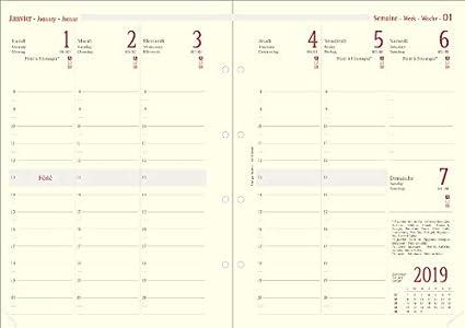 Oberthur - Recambio para agenda semanal 2020 (organizador 30 ...