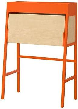 Ikea Ps 2014 Secrétaire Orange Plaqué Bouleau Amazonfr