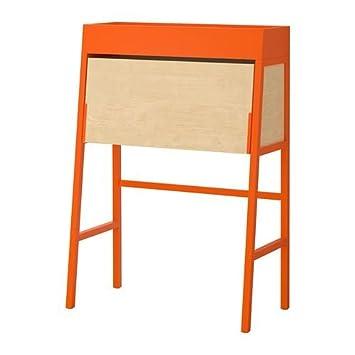 Ikea Ps 2014 Bureau Orange Birch Veneer Amazoncouk