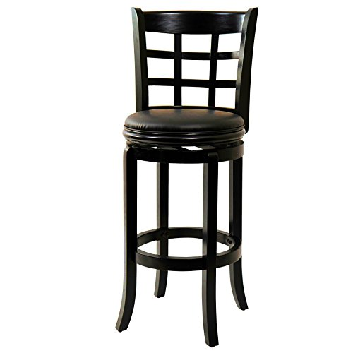 Rustic Victorian Lodge Arts (Bar Stool. Comfortable 4 Legs Top Bar Chair. The Attractively Designed Backrest Plus The Plush Black Seat, Exuberates Sophistication. The Perfect Addition To Your Home Bar, Kitchen Or Dining Space.)