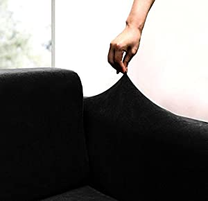 Amazoncom JERSEY STRETCH Form Fit Couch Cover 2 Pc Slipcover Set