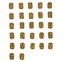 Walnut Hollow 41347 Mini Hot Stamps Lowercase Alphabet Branding & Personalization Set for Wood Leather & Other Surfaces