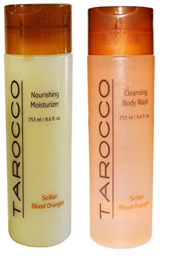 Baronessa Cali Tarocco Skin Care Set: Sicilian Blood Oranges Nourishing Moisturizer + Cleansing Body Wash - 8.6 Ounce