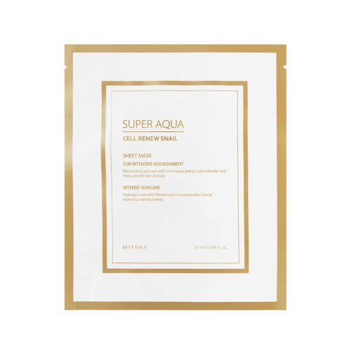 MISSHA Super Aqua Cell Renew Snail Hydro Gel Mask (5pcs)