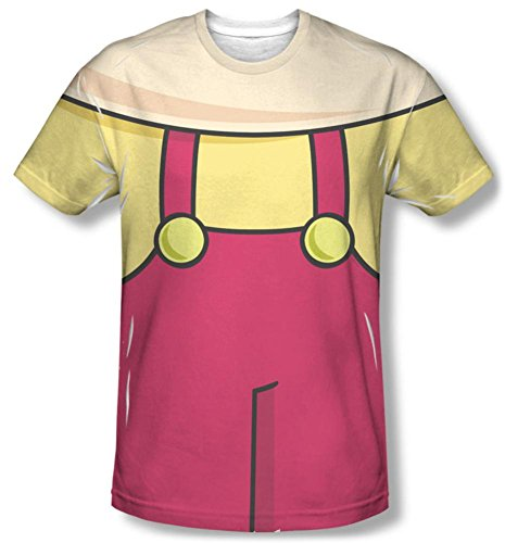 [Family Guy - Stewie Griffin Costume Tee T-Shirt Size S] (Stewie Griffin Costumes)