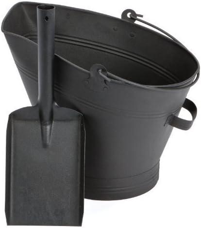 "PARASENE BLACK COAL Hod  SCUTTLE BUCKET 21/"" with ash shovel"