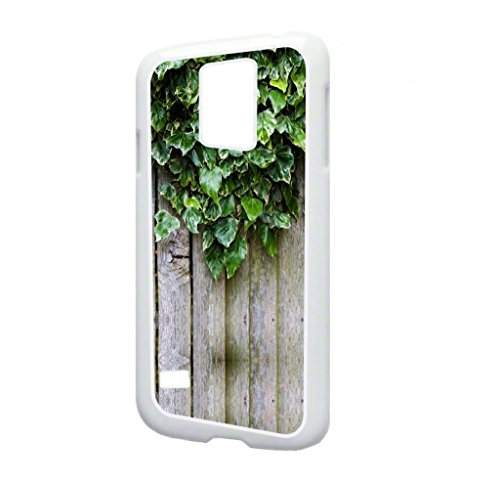 Ivy Wood Print - TM Samsung Galaxy s5 i9600 White Plastic Phone Case Made in the USA (Poison Ivy Galaxy S5 Case)