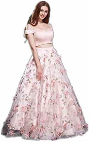 0f71f89f121 Jadore Evening V Neck Off Shoulder 2 Piece Maxi Dress A-Line Bodycon Skirt  Prom