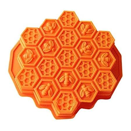 4.5cm 23 Orange Chakil Nid dabeille Abeille Moule G/âteau Au Chocolat Savon Bougie Glace Moule Outils /À Main Bricolage Silicone size 24