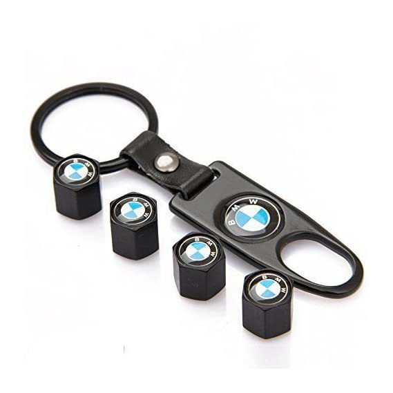 Incognito-7 3D Laxury BMW Car Tyre Valve Cap Air Cap Car Tyre Valve Stem Cap Air Covers with Keychain for All BMW Cars