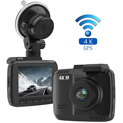 LAYDRAN 4K Dash Cam Car DVR Dashboard Camera Recorder, Built-in WiFi & GPS, G-Sensor, WDR, 2.4