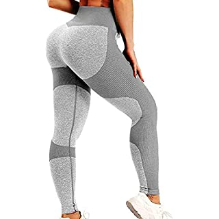 SEASUM Women Yoga Pants Heart Shape Patchwork Leggings High Waist Capris Workout Sport Fitness Gym Tights S