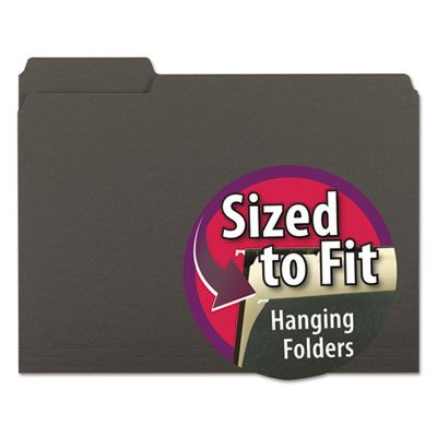 (3 Pack Value Bundle) SMD10243 Interior File Folders, 1/3 Cut Top Tab, Letter, Black, 100/Box by SMD10243