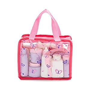 Baby Doll Care Accessories Kit in Bag – 16 Piece Set