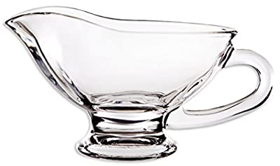 Circleware Saucy Glass Gravy Boat Dish, 10 Ounce, Limited Edition Glassware Serveware