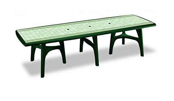 Mesa para exterior de plástico verde bosque Top Estampado ...
