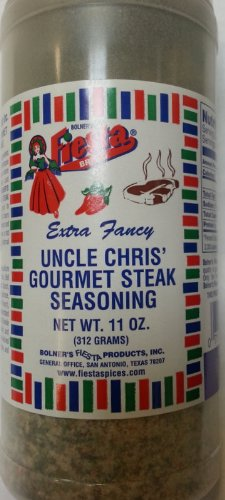 Bolner's Fiesta Brand Uncle Chris' Gourmet Steak Seasoning 11 Oz