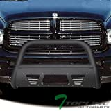 2005 dodge ram 1500 grill guard - Topline Autopart Matte Black Studded Mesh Bull Bar Brush Push Front Bumper Grill Grille Guard With Skid Plate For 02-05 Dodge Ram 1500 ; 06-09 1500 Mega (Extended Crew) Cab ; 03-09 2500/3500