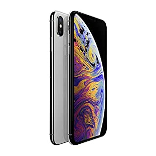 Apple iPhone XS, 64GB, Silver - Fully Unlocked (Renewed)