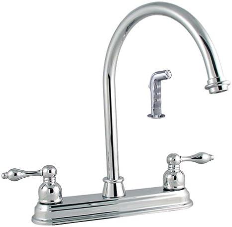 LDR Exquisite Stainless Single Handle Kitchen Faucet Long Swing Spout w// Sprayer