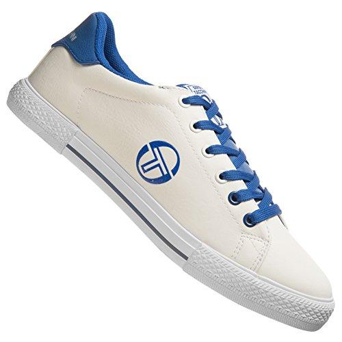 Sergio Tacchini EDISON CUP SOLE Weiss Blau Herren Mode Sneakers Schuhe Neu