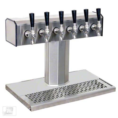 (Glastender (BT-6-SS) - Stainless Steel 6-Faucet Tee Tower )