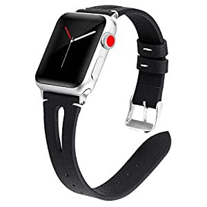 Amazon.com: Kaome Leather Band Compatible for Apple Watch