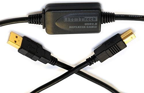 Rhombutech 10 metros USB 2.0 alargador, Activo, amplificador de ...