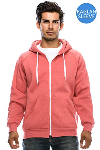 Raglan Hooded Unisex Zip up Fleece