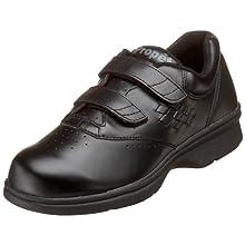 Propet Women's W3915 Vista Walker Strap Sneaker,Black Smooth,10 XX (US Women's 10 EEEE)