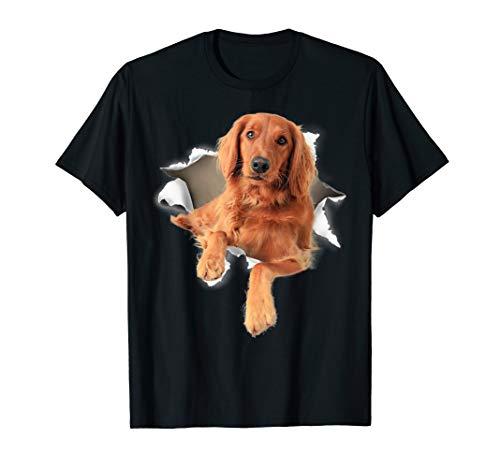- Irish Setter Torn T Shirt, Irish Setter dog torn shirt