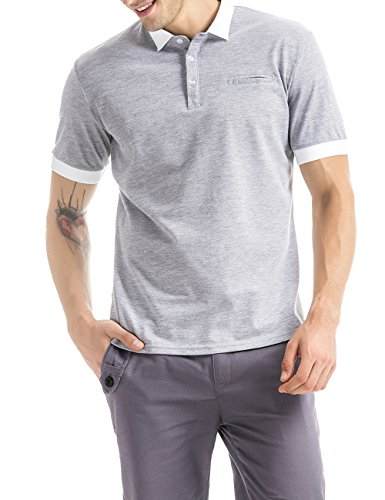 OLIVE TREE Business Casual Classic Polo Shirt