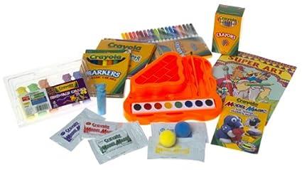 Amazon.com: Crayola Super Art Coloring Kit - Blue: Toys & Games