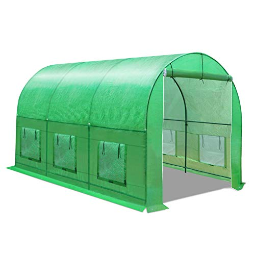 BenefitUSA Multiple Size Large Greenhouse Walk in Outdoor Plant Gardening Hot Greenhouse (12