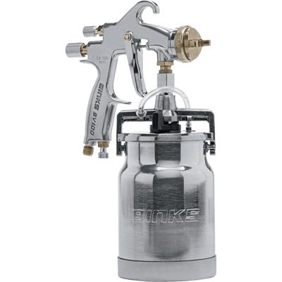 Binks Conventional Spray Gun with 1-Qt. Siphon Cup - Model# SV100 by Binks