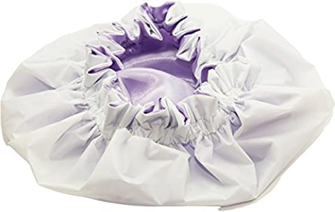 xxx Large ORCHID Waterproof Double Layer Shower Cap Made With Eco-Friendly EVA Exterior & Pure Satin