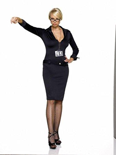 Leg Avenue Womens Csi Police Crime Investigator Outfit Fancy Dress Sexy Costume, S/M (4-8)