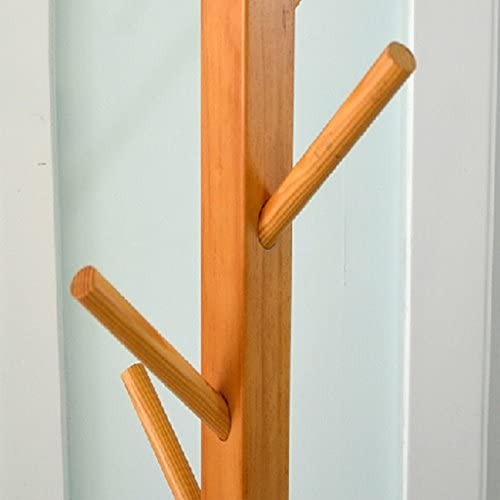 Meters ソリッドウッドツリーフレームリビングルームベッドルームフロアハンガー ( 色 : Logs )