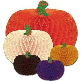 Beistle Helloween 5-pack Packaged Designer Tissue Pumpkins Party Accessories(1/pkg) (Helloween Decorations)