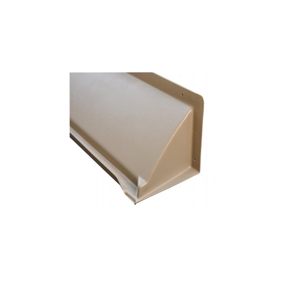 DOORBRIM 187GRY5588 Light Duty Door & Window Header Rain Drip Guard, 60 Length, 8 Width, 8 Height, 0.187 Thickness, Gray
