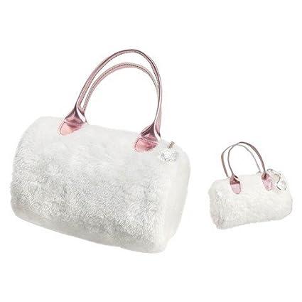 Amazon.com  Our Generation Me and You Handbag - White Fur  Toys   Games f783637dfb54e
