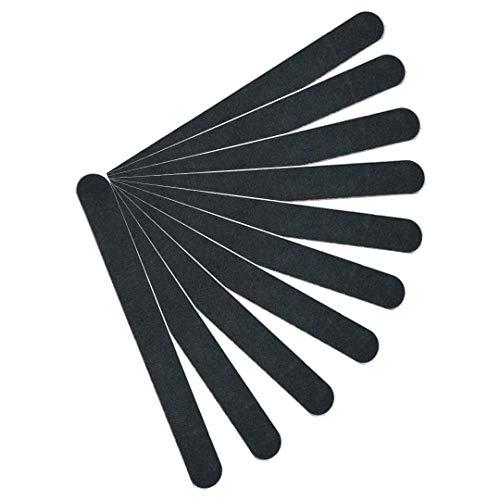 幾分ある国民【kimari】(10本セット)kmr-001ブラックネイルファイル エメリーボード 100/180グリット 爪けずり ネイルやすり