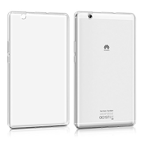 kwmobile Crystal Case for Huawei MediaPad M3 8.4 TPU Silicone Case Protective Cover in transparent (Huawei Mediapad Case)