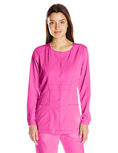 WonderWink Women's Hp Prism Snap Front Scrub Jacket, Fuchsia, Small