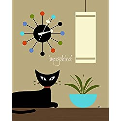Wall Art Print entitled Mid Century Ball Clock 2 by Donna Mibus | 8 x 10