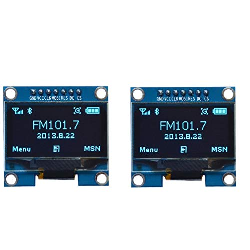 WINGONEER 2Pcs 1.3 Inch SPI 128x64 SSH1106 OLED LCD Display LCD Module for Arduino AVR PIC STM32 - Blue Font