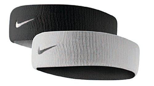 NIKE Dri-Fit Home & Away Headband (One Size Fits Most, White/Black)