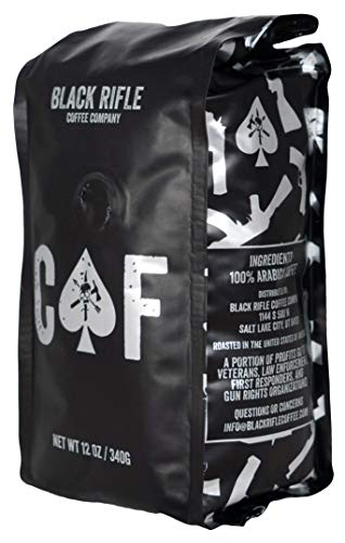 Black Rifle Coffee Company CAF Blend, Medium Roast, Ground, 12 Ounce Bag