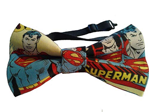 (Superman Bow Tie, Adult, Adjustable up to 18 Inches)
