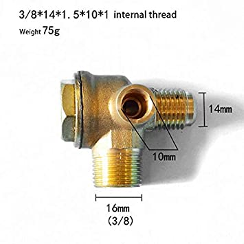 v/álvula de retenci/ón de lat/ón herramienta de conector de tubo de v/álvula de 3 v/ías SENRISE V/álvula de retenci/ón para compresor de aire